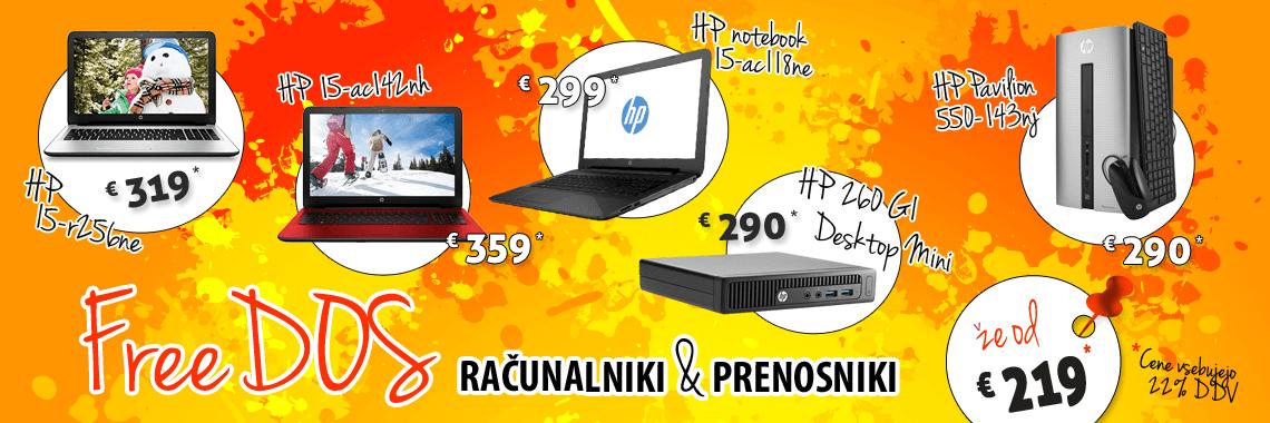 FreeDOS prenosniki & računalniki