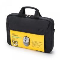 Torba z miško DICOTA Value Toploading Kit za prenosnike do 39,6 cm