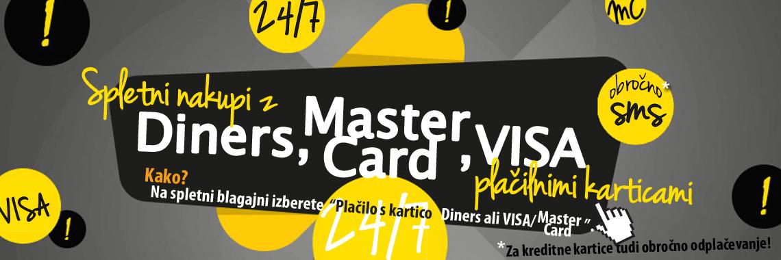 Nakupi z Diners MasterCard in VISA karticami