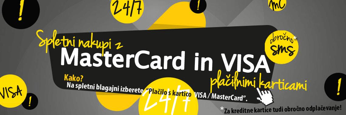 NOVO: Nakupi z MasterCard in VISA preko spleta!