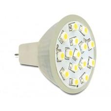 Delock Lighting MR11 LED žarnica 1,0 W topla bela svetloba 15 x SMD
