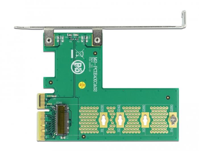 Delock PCI Express kartica x4> 1 x notranji NVMe M.2 key M - navzkrižni format